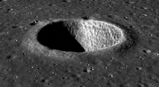 3-D View of moon